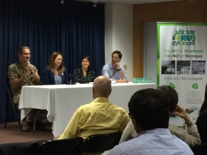 Panel discussion on A Plastic Ocean at the US Embassy in Peru