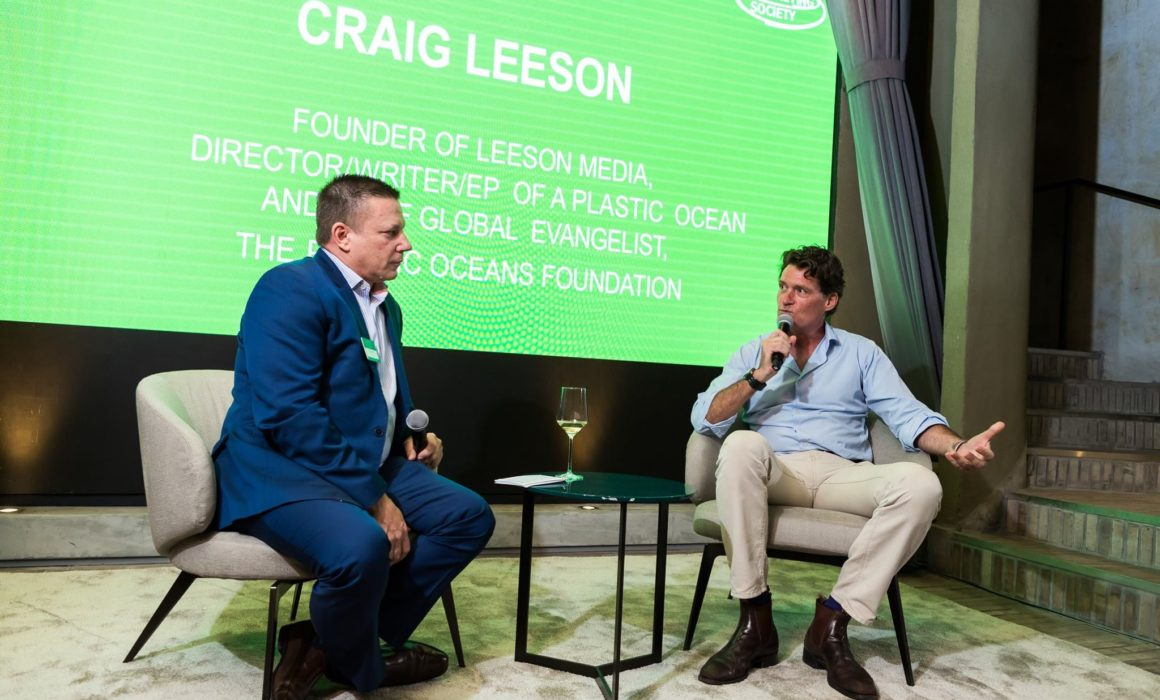 Craig Leeson at the Marketing Society event in Hong Kong
