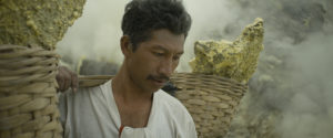 Sulphur miner in Indonesia