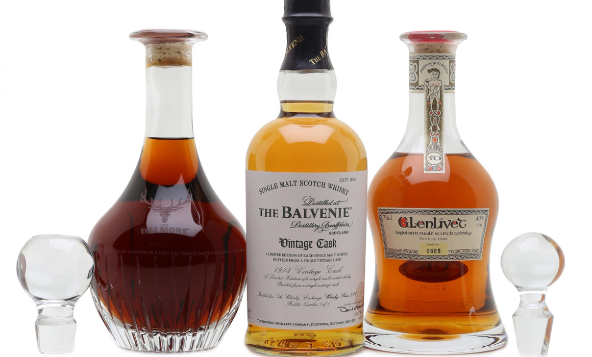 Whisky Auction bottles