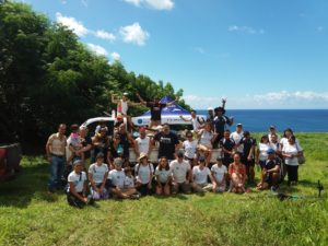 Plastic Oceans International beach cleanup on Easter Island.