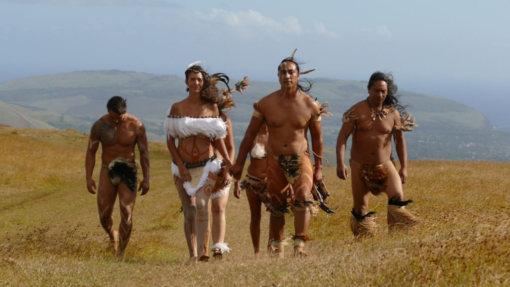 Scene from Eating Up Easter documentary, shot on Easter Island