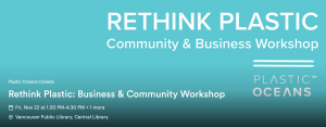 Rethink Plastic: Community and Business Workshop.