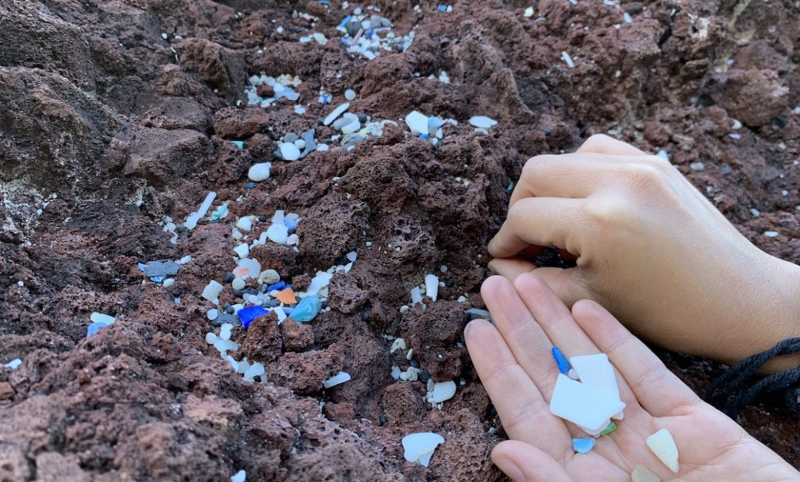 microplastic collection on Easter Island