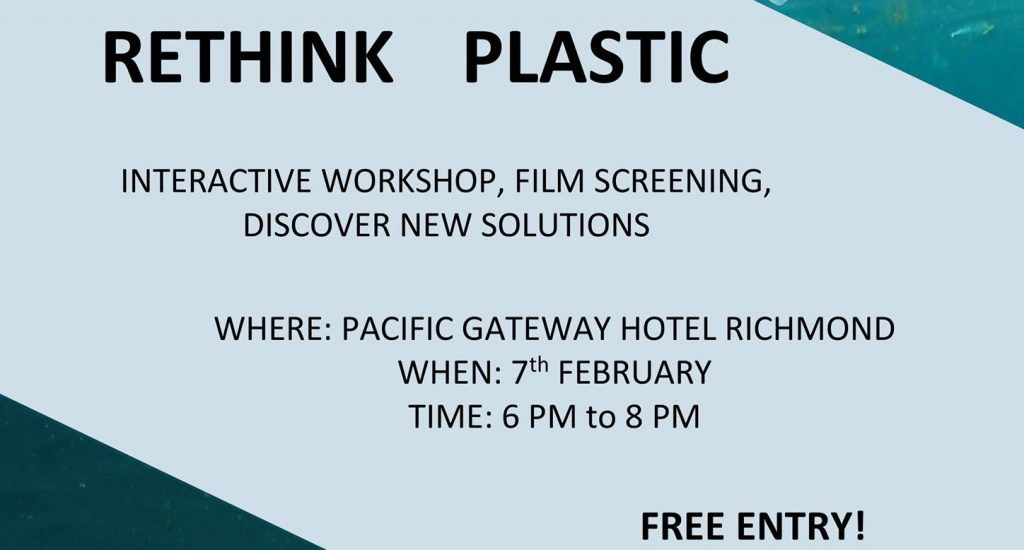 Rethink Plastic Workshop Flyer.