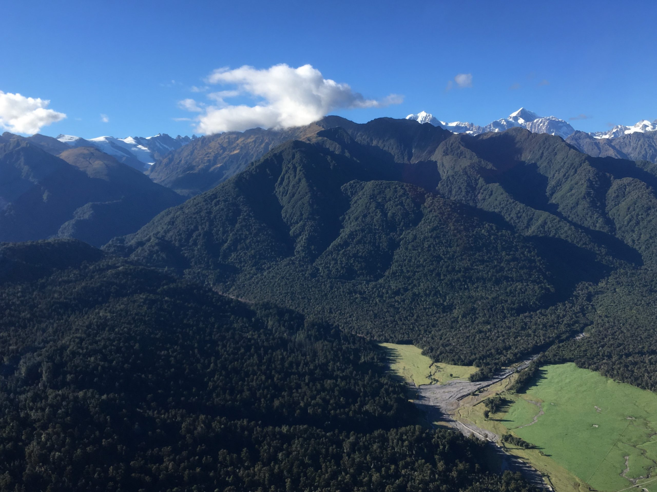The Southern Alps of New Zealand.