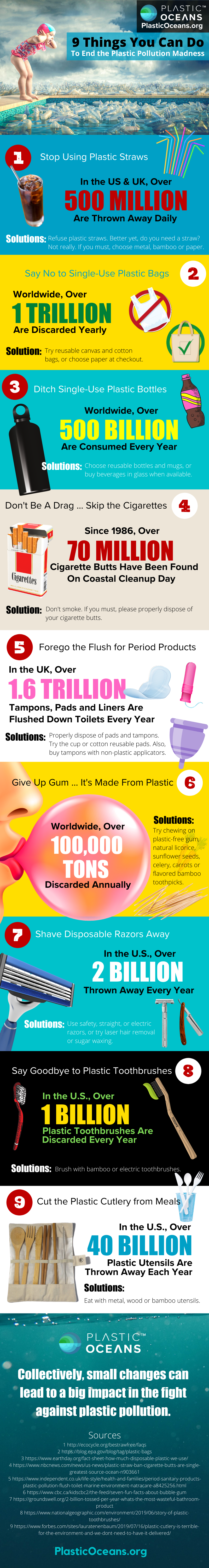 Infographic, 9 things you can do to end the plastic pollution madness
