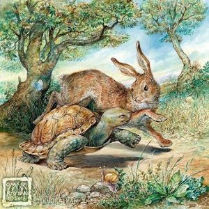 The tortoise and the hare turtle fable