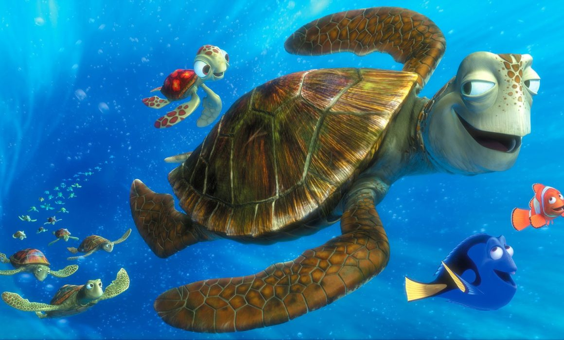 Crush and Squirt turtles from Finding Nemo