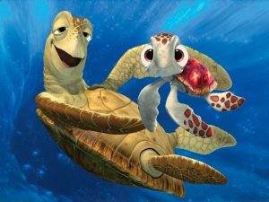 Squirt and Crush from Finding Nemo