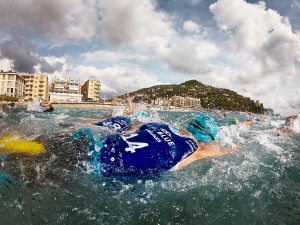 EpicBlue swim-run race in Finale Ligure, Italy
