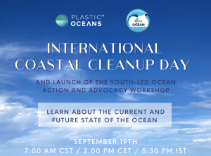 International Coastal Cleanup Day and The Launch of the Youth-Led Ocean Action and Advocacy Workshop