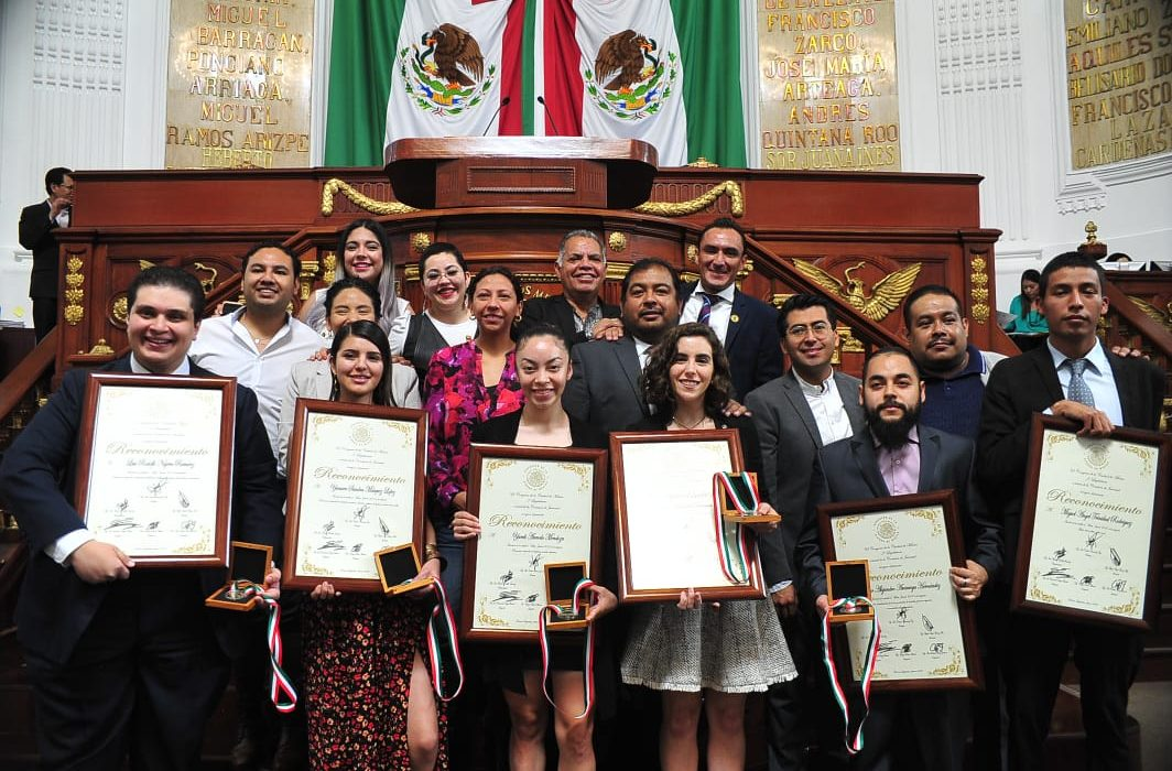 Youth Merit Award winners from Congress of Mexico
