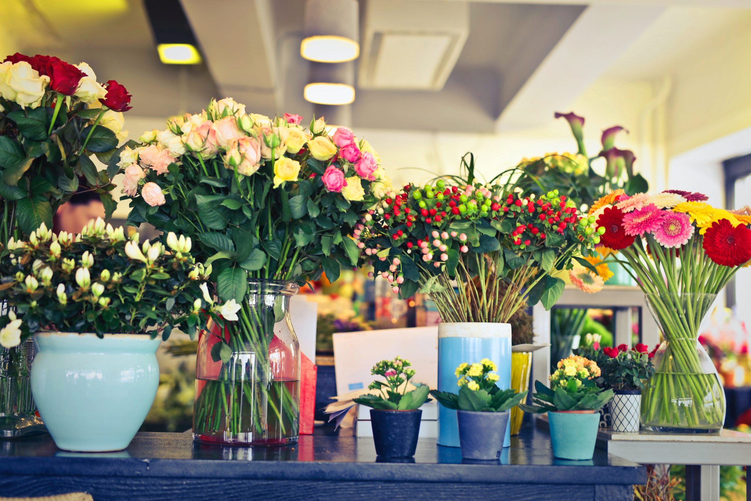 Valentine's Day: Flower shops import tons of flowers from South America.